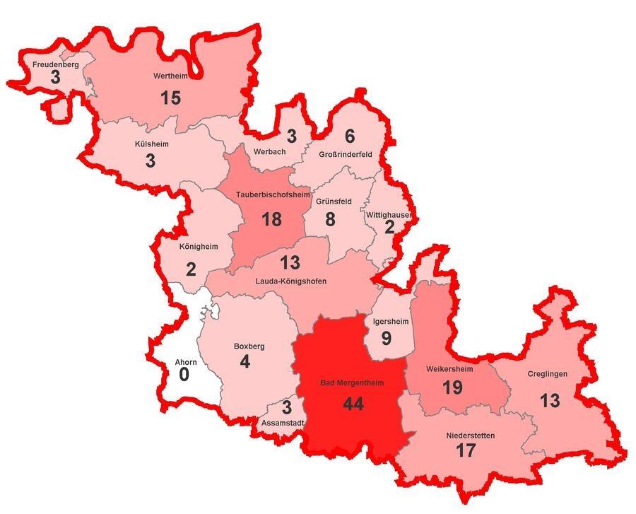 Corona Landkreis Karte